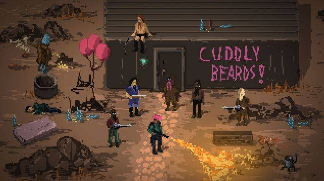 Death Trash is a post-apocalyptic RPG filled with profanity, gore, and puke