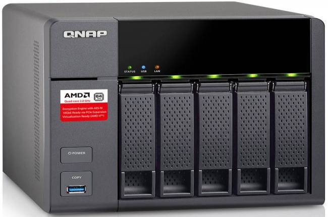 This full-featured 5-bay QNAP NAS box is on sale for $409