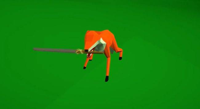 You're a sword-wielding fox in animal action game Vulpine