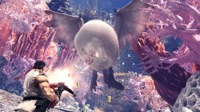 Street Fighter's Ryu and Sakura will be coming to Monster Hunter: World