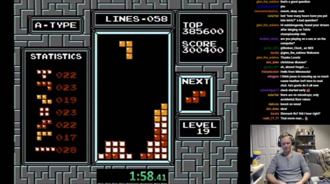 Watch this streamer accidentally break a 'Tetris' world record