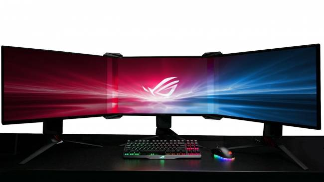 ASUS can turn three screens into one seamless gaming display