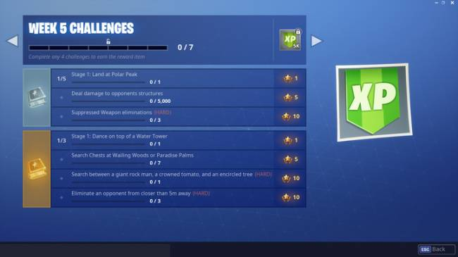 Fortnite Week 5 Challenge Guide: Search Between Rock Man, Crowned Tomato, Encircled Tree, And More (Season 7)
