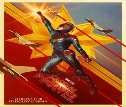 Captain Marvel Blasts Into Space In Stylish New Posters