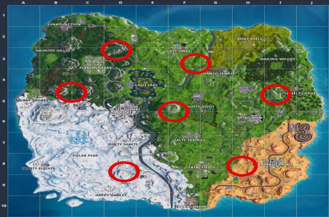 Fortnite Week 7: Expedition Outpost Locations Guide (Season 7 Challenge)