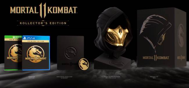 Mortal Kombat 11 Kollector's Edition Includes Scorpion Mask
