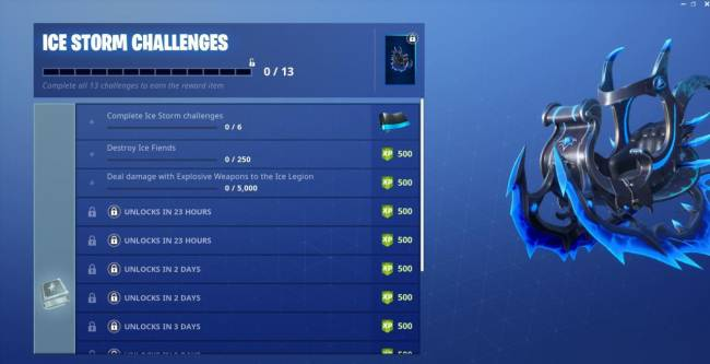 Fortnite Ice Storm Challenge Guide (Day 1): Destroy Ice Fiends, Damage Ice Legion