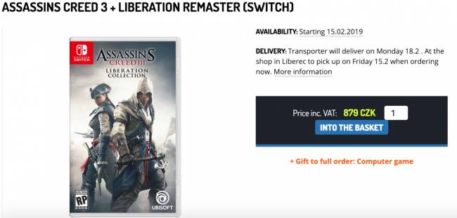 Assassin's Creed Coming To Nintendo Switch, According To Leaks