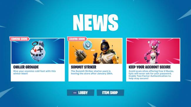 Fortnite 7.30 Update Arriving Tomorrow After Ice Storm Challenges End