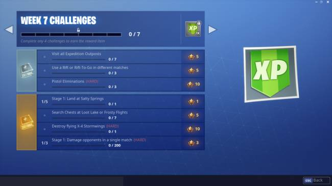 Fortnite Week 7 Challenge Guide: Visit Expedition Outposts, Use Rift or Rift-To-Go, And More