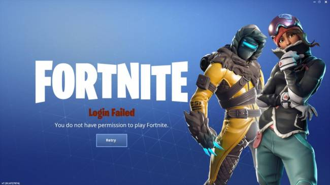 Fortnite Servers Down, Preventing Players From Logging Into The Game