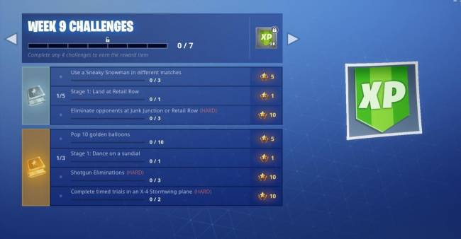 Fortnite Week 9 Challenges Guide: Dance On Sundial, Pop Golden Balloons, And More (Season 7)