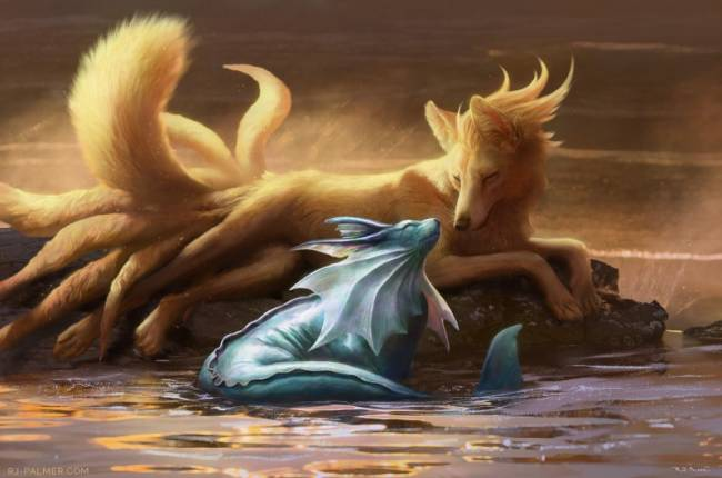 Detective Pikachu Film Concept Artist Shares Realistic Take On Vaporeon And Ninetales