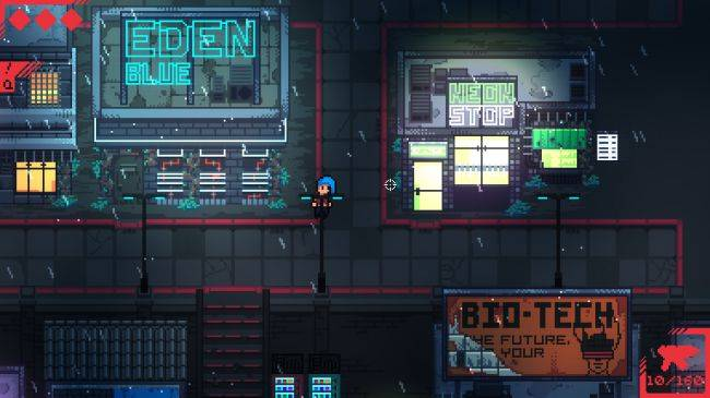 Neon Blight is a roguelike where you sell guns to cyberpunks