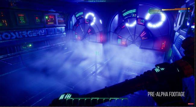 System Shock remake video shows misty halls and cavernous factories