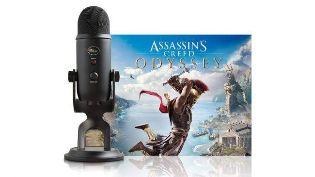 The Blue Yeti USB microphone is on sale with Assassin's Creed Odyssey for $109.99 from Amazon