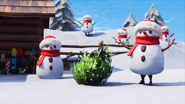 Fortnite's latest update lets you wear a snowman disguise