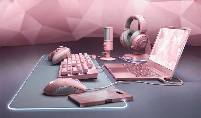 Razer just gave a whole bunch of its gaming peripherals a splash of pink