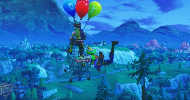 Where to find Fortnite's golden balloons