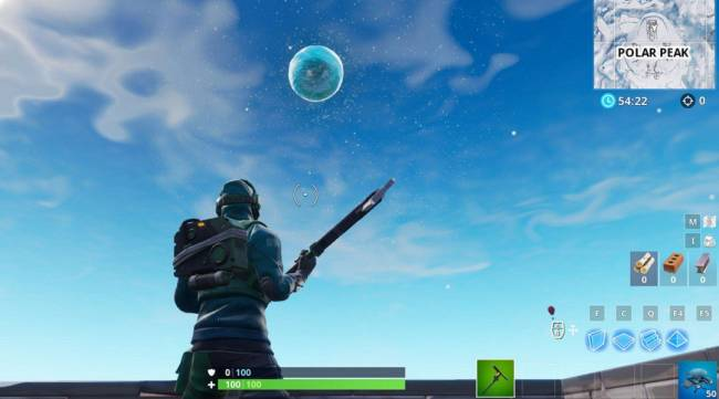 Fortnite Ice Ball Teases Big Ice Storm Event