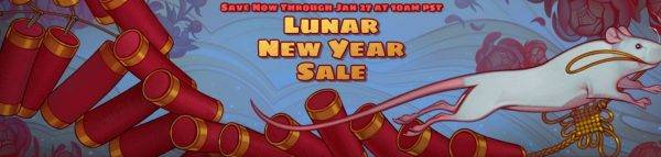 Steam Lunar New Year sale is live, log in daily to earn tokens to spend on backgrounds, more