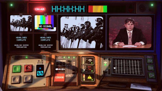 Manipulate the politics of a country in FMV game Not For Broadcast