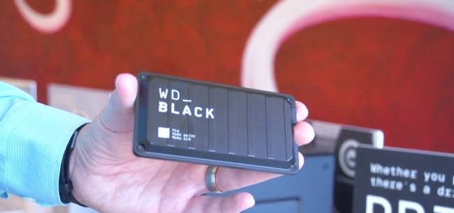 Western Digital shows off world's first 8 TB 20 Gbps portable SSD at CES 2020