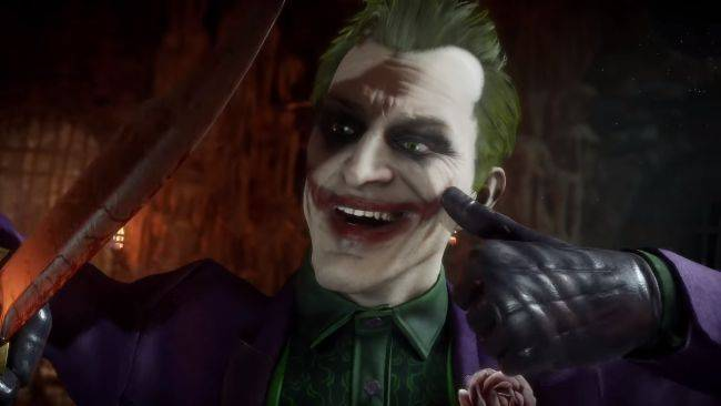 The Joker is having a bloody good time in his Mortal Kombat 11 trailer