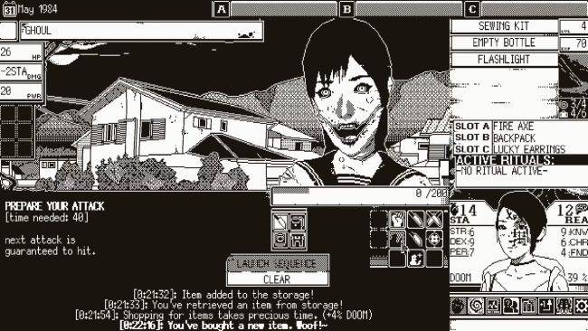 World of Horror, a creepy 1-bit style horror RPG, will release next month
