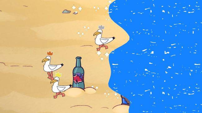 Play an endless, ruthless seagull battle royale in The Beach