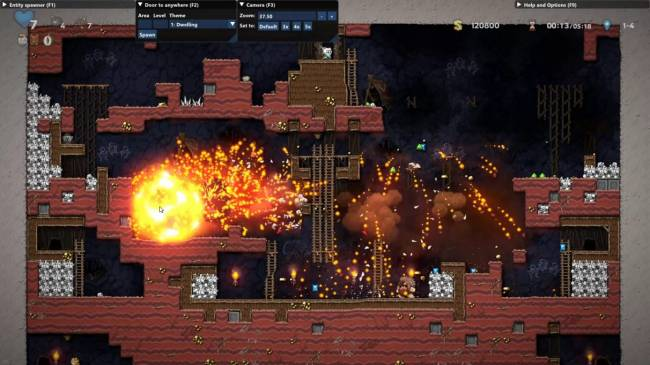 Spelunky 2 mod Overlunky lets you zoom out and blow up every level