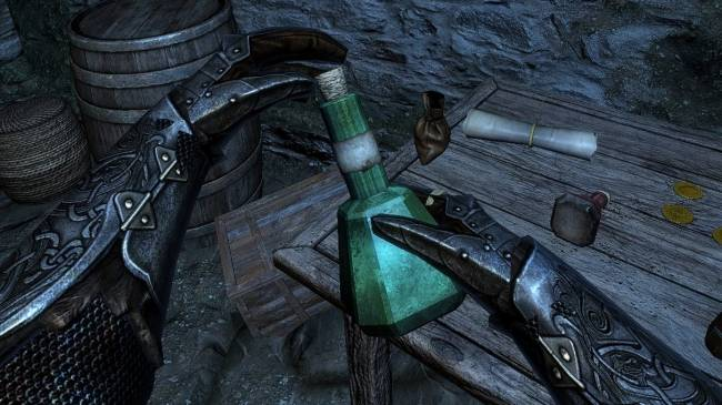 This mod puts Half-Life: Alyx's gravity gloves into Skyrim VR