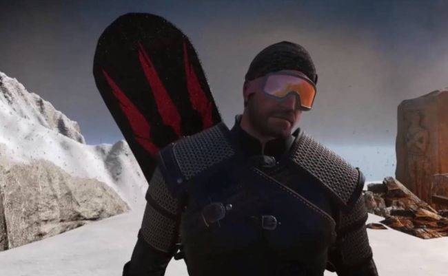 This Witcher 3 mod gives Geralt a snowboard to shred the slopes of Skellige