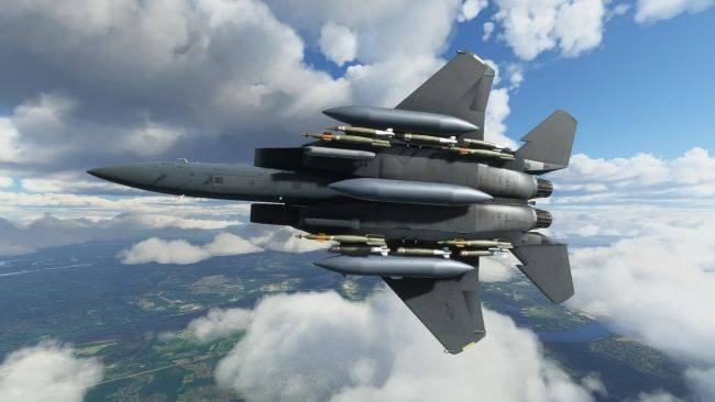 Microsoft Flight Simulator is too slow to keep up with this third-party F-15 add-on