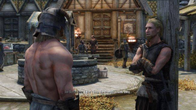 This Skyrim mod turns NPCs into adoring fans of the Dragonborn's abs