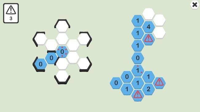 This free puzzler is a clever twist on the Minesweeper formula