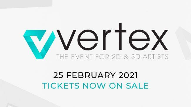 Vertex, the ultimate event for 2D and 3D artists, returns on 25 February