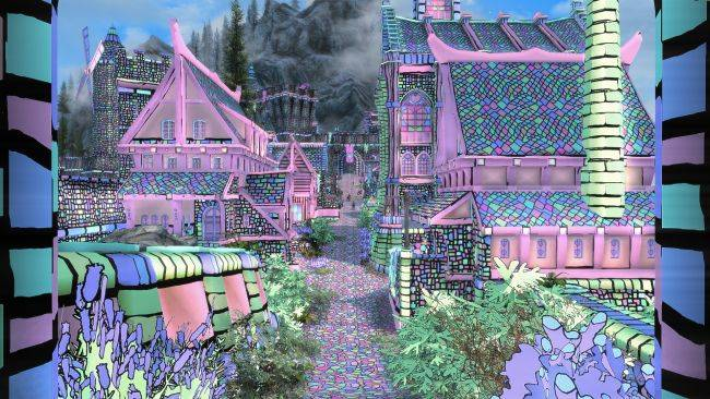 This Skyrim mod turns Solitude into a kaleidoscopic acid trip because why not