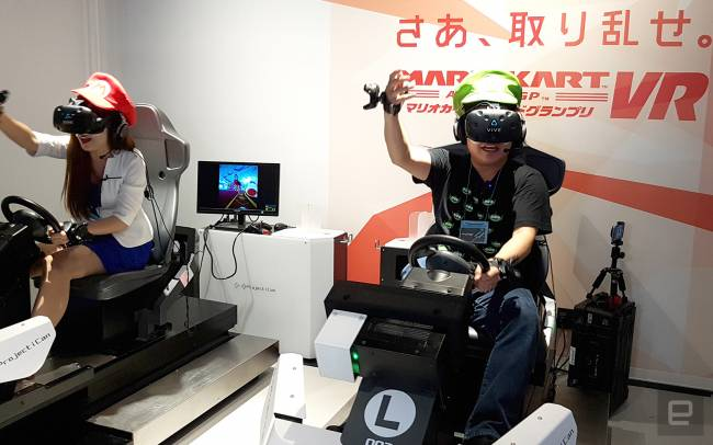 This Japanese VR arcade put me inside 'Mario Kart'