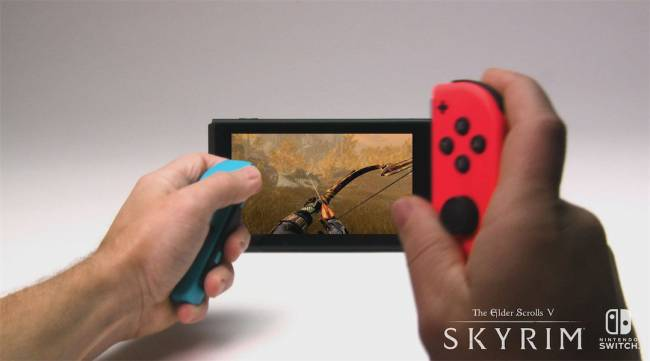 Skyrim on Nintendo Switch Footage Shows Game in Handheld Mode
