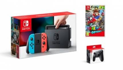 Nintendo Switch with Mario Odyssey and Pro Controller discounted to £330 for Amazon Prime Day