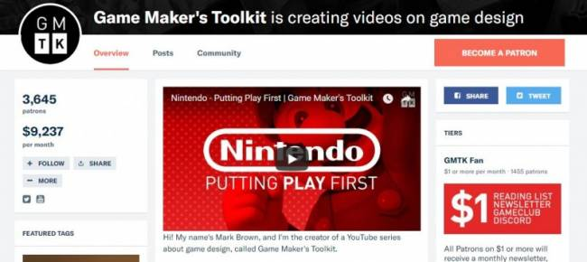 The New Vid Economy: Making A Living From Crowdfunded Game Analysis