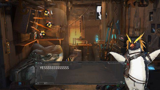 Minotaur is adventure game starring a magical android and a cyborg penguin