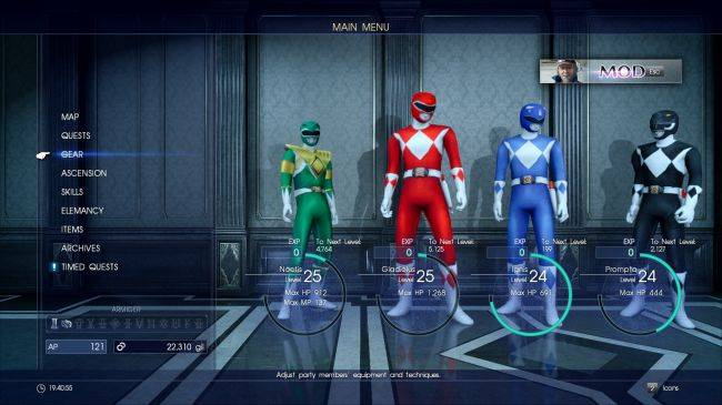 This Final Fantasy XV mod lets you play as the Power Rangers