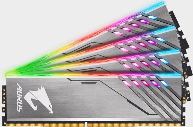 Gigabyte's 16GB memory kit comes with dummy RGB modules for those empty slots