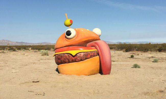 Fortnite's missing Durr Burger mascot found in the middle of the desert