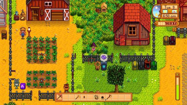 Community Farm is a 24,000-tile Stardew Valley map for 10-person multiplayer