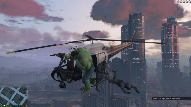 GTA 5 Hulk mod now lets players bodyslam NPCs from helicopters at 10,000 feet