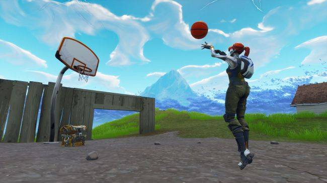 Where to find all 9 Fortnite basketball hoop locations