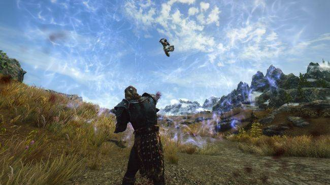 Skryim 'Strength of the Gods' mod sends enemies soaring with hilarious results